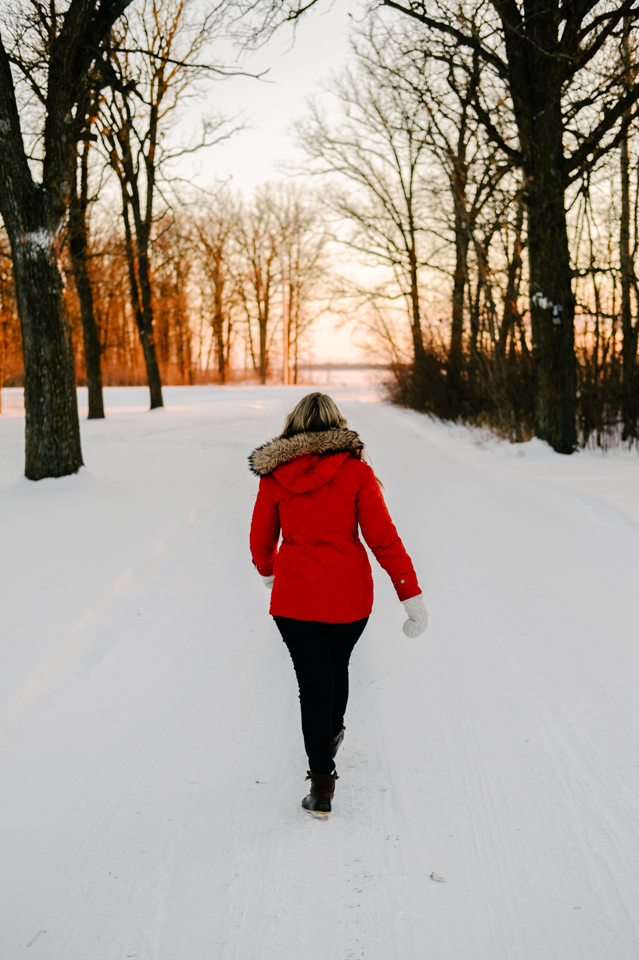 Debora Dahl walking into the sunset