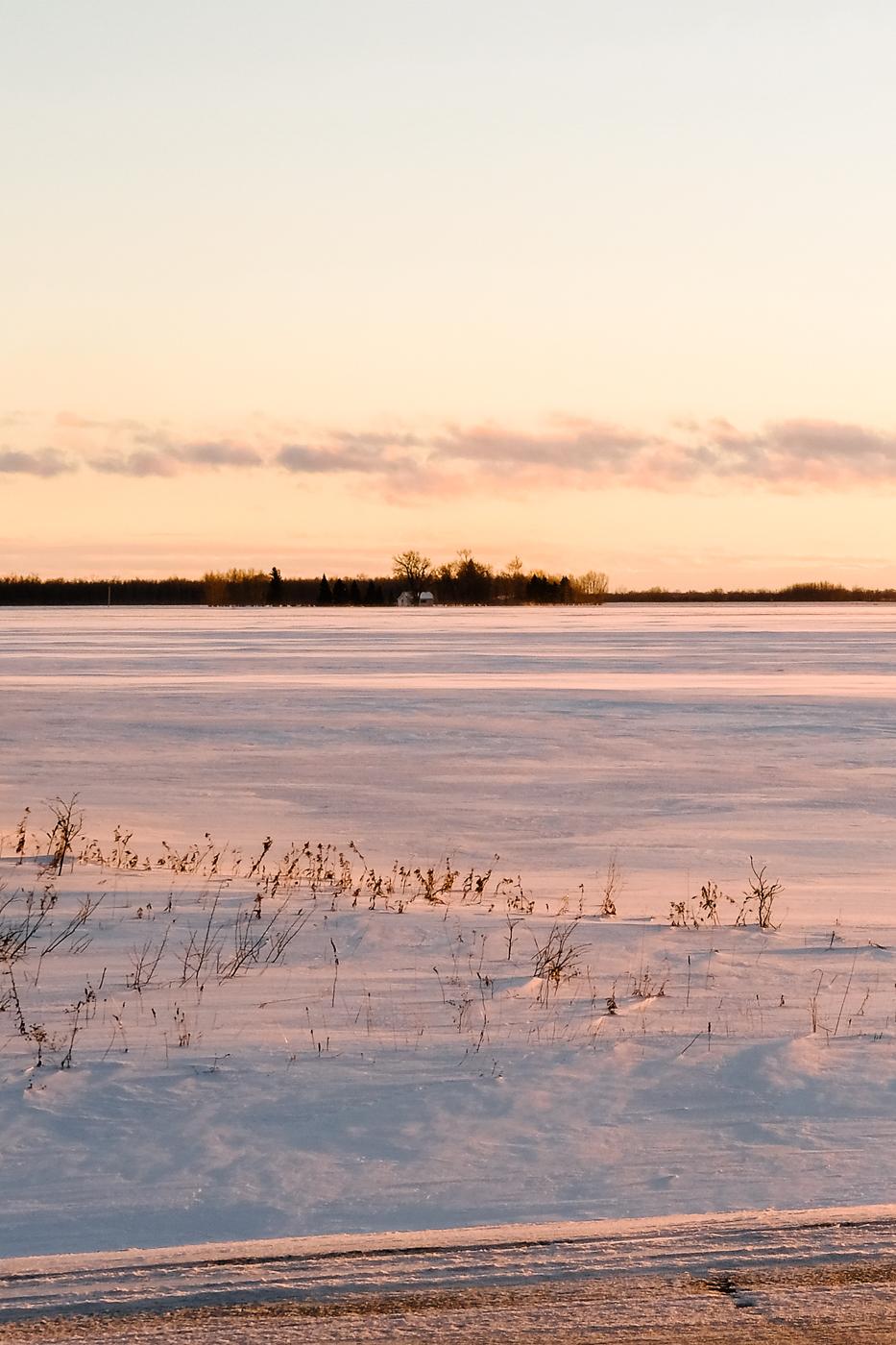 Debora Dahl winter sunset on the praire