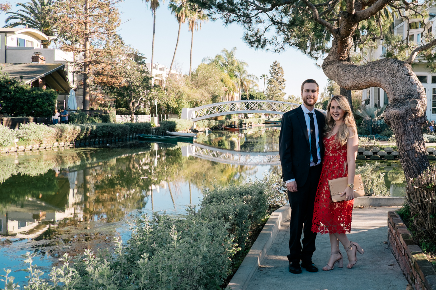 Benjamin and Debora Dahl at the Venice Canals in Los Angeles for Valentine's Day