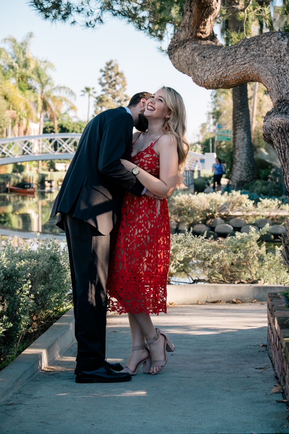 Benjamin and Debora Dahl Valentines Day at the Venice Canals in Los Angeles