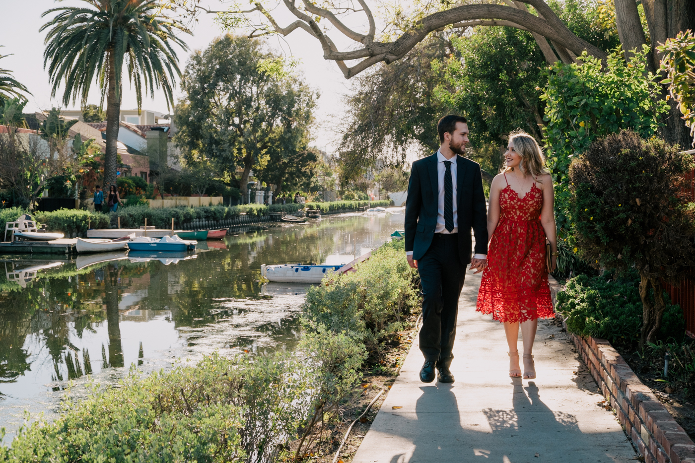 Benjamin and Debora Dahl at the Venice Canals for Valentine's Day
