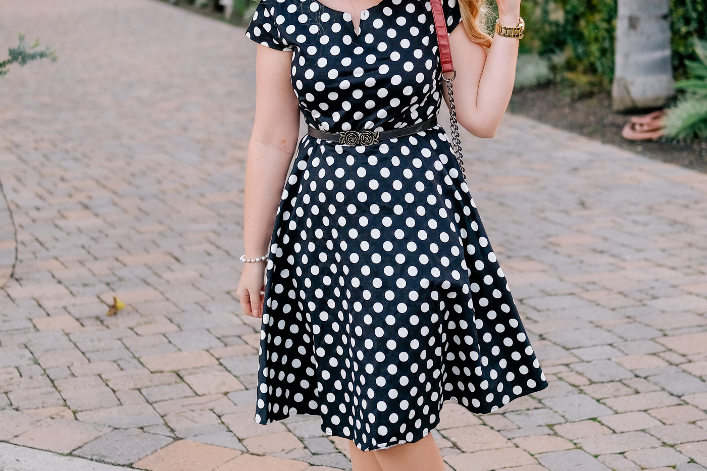 Debora Dahl black polka dot dress