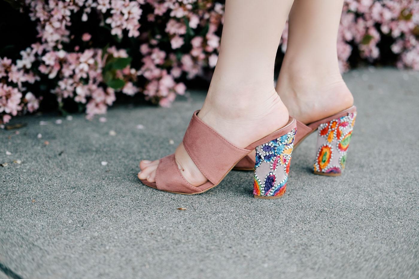 Debora Dahl, embroidered heels