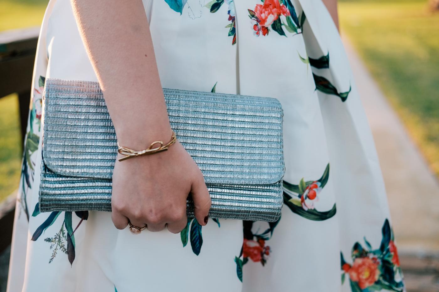 Debora Dahl, metalic straw bag, clutch