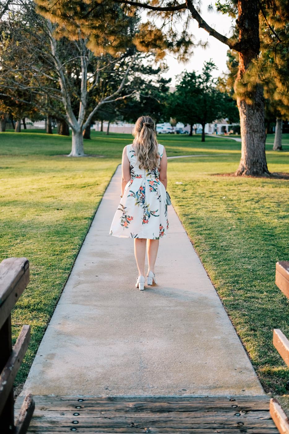 Debora Dahl, vestido primaveril