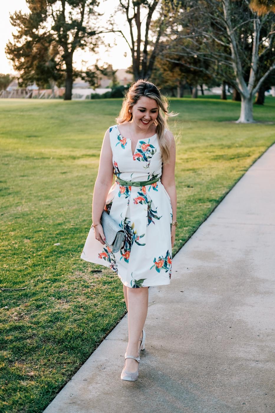 Debora Dahl, Deborah Dahl spring style floral dress