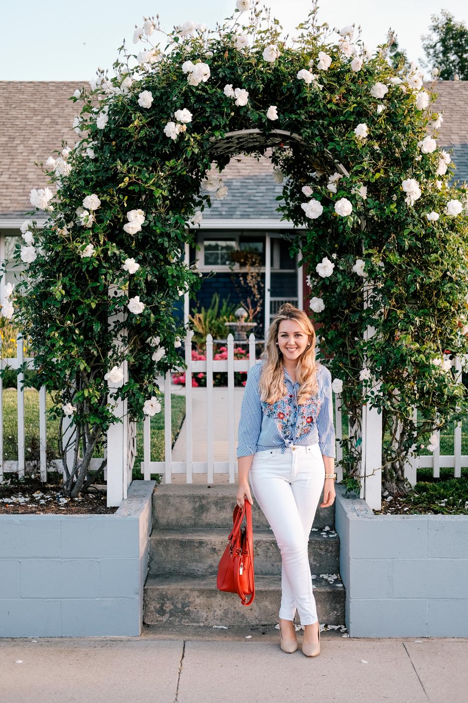 Debora Dahl, embroidered blouse, trend