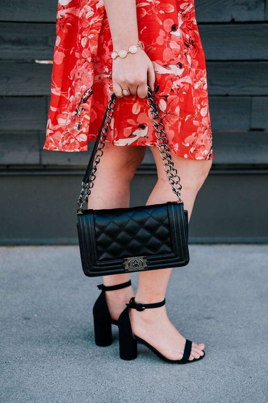 Debora Dahl, black heels and bag