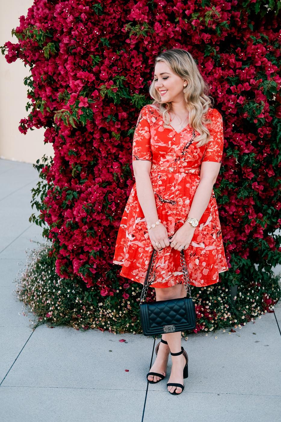 Debora Dahl, ladylike style, red dress