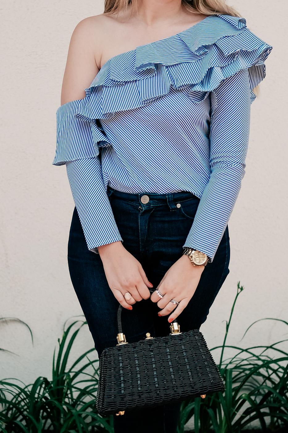 trend alert, one-shoulder style, Debora Dahl