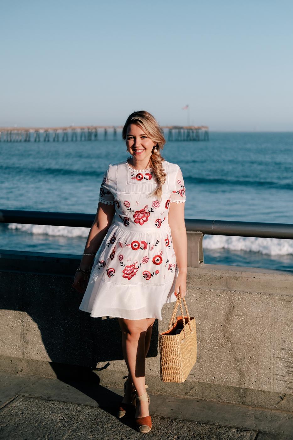 Debora Dahl, vestido bordado