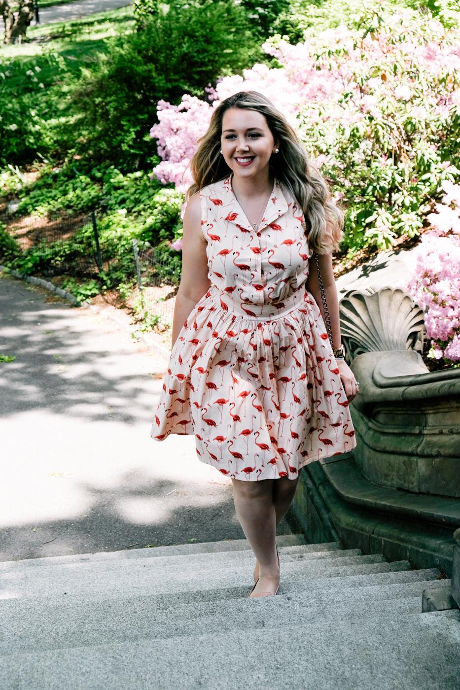 Debora Dahl, vestido de Flamingo